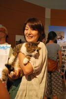 福島から来ていた猫ちゃん。被災した飼い主さんから、新しい飼い主さんを探してほしいと依頼されているのだとか。とっても人懐っこい子でした。